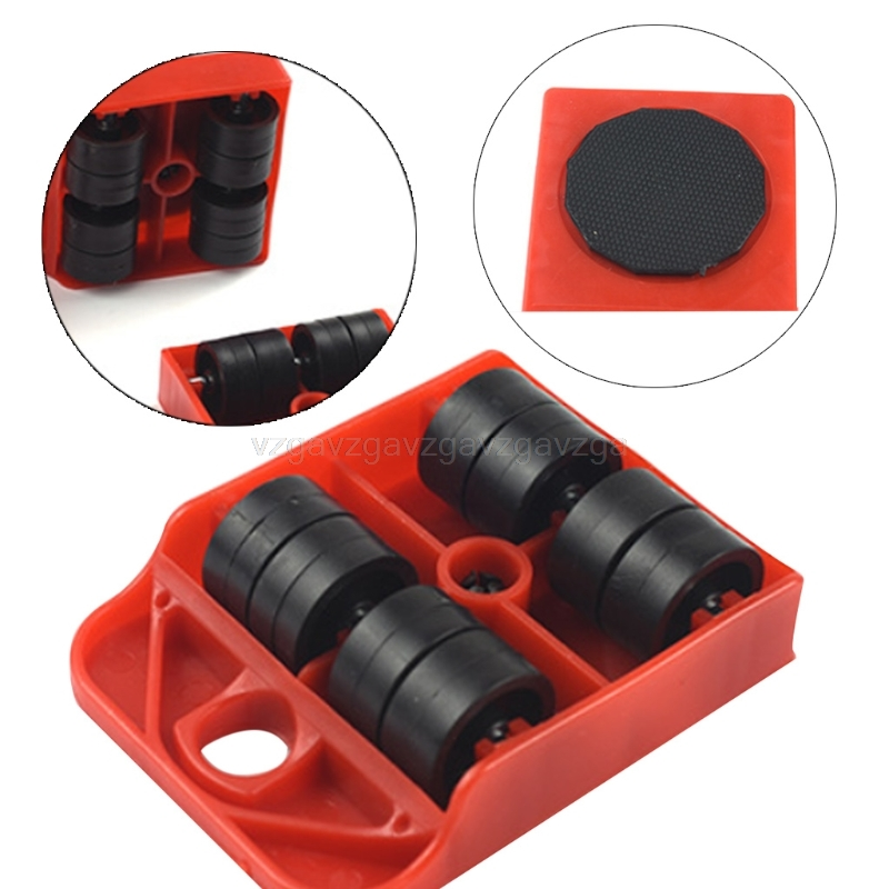1pc Moves Furniture Tool Transport Shifter Moving Wheel Slider Remover Roller Heavy red/yellow J26 19 Dropship