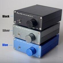 Brisa TPA3116 HiFi Clase 2.0 de Audio Estéreo Digital Amplificador de Potencia de Audio Avanzada 2*50 W Mini Casa Caja De Aluminio amp-Negro