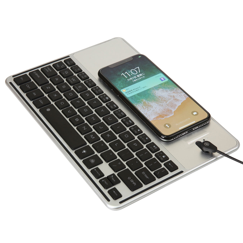 7 Color Backlit Bluetooth 3.0 Keyboard  For New iPad 9.7 inch 2017&For iPad pro 9.7 with QI Wireless Charging Function Keyboard new us backlit keyboard for asus rog strix s5vt s7vm s5vm s5vs s7vt s5vy backlit laptop keyboard 1