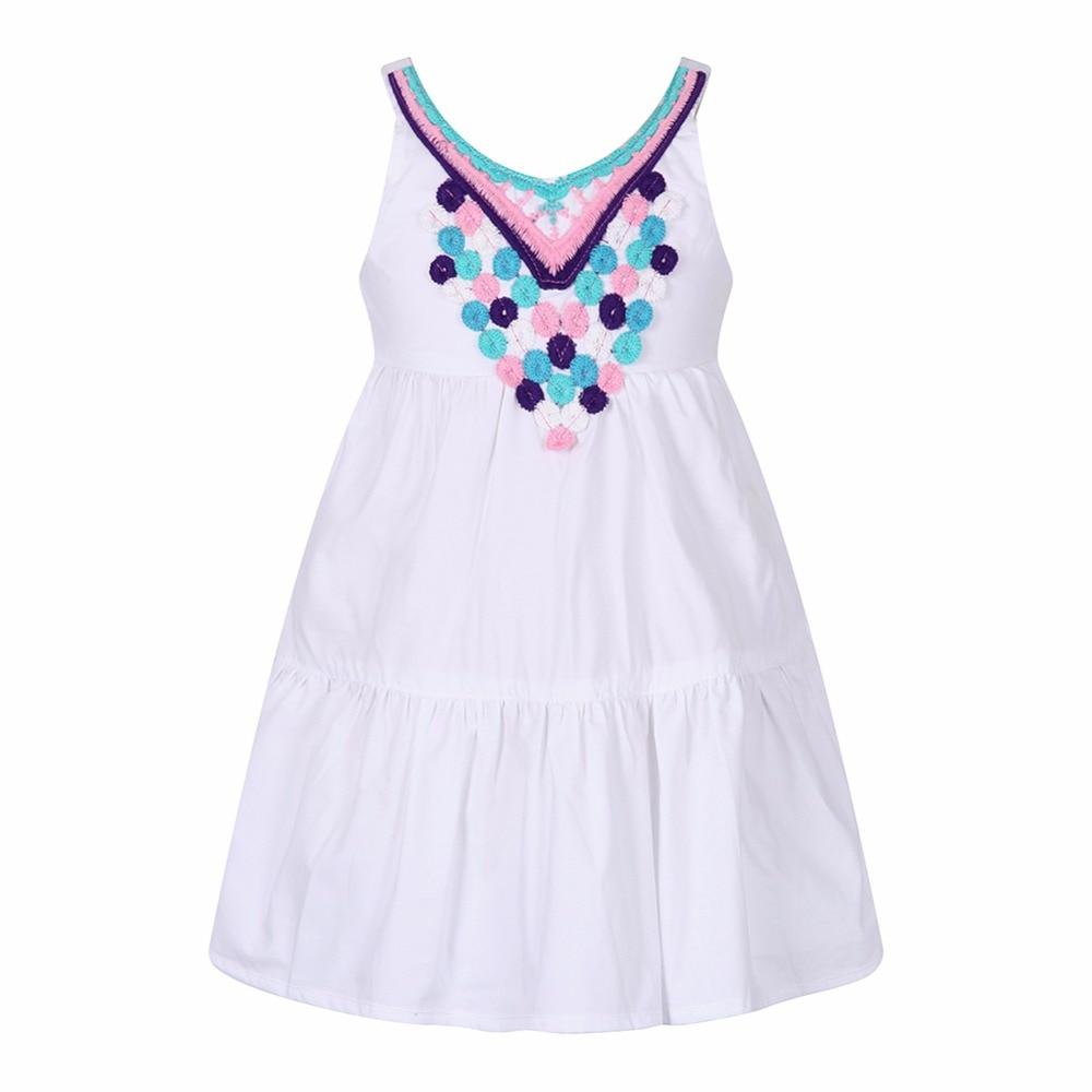buy girl summer dress embroidery robe. Black Bedroom Furniture Sets. Home Design Ideas