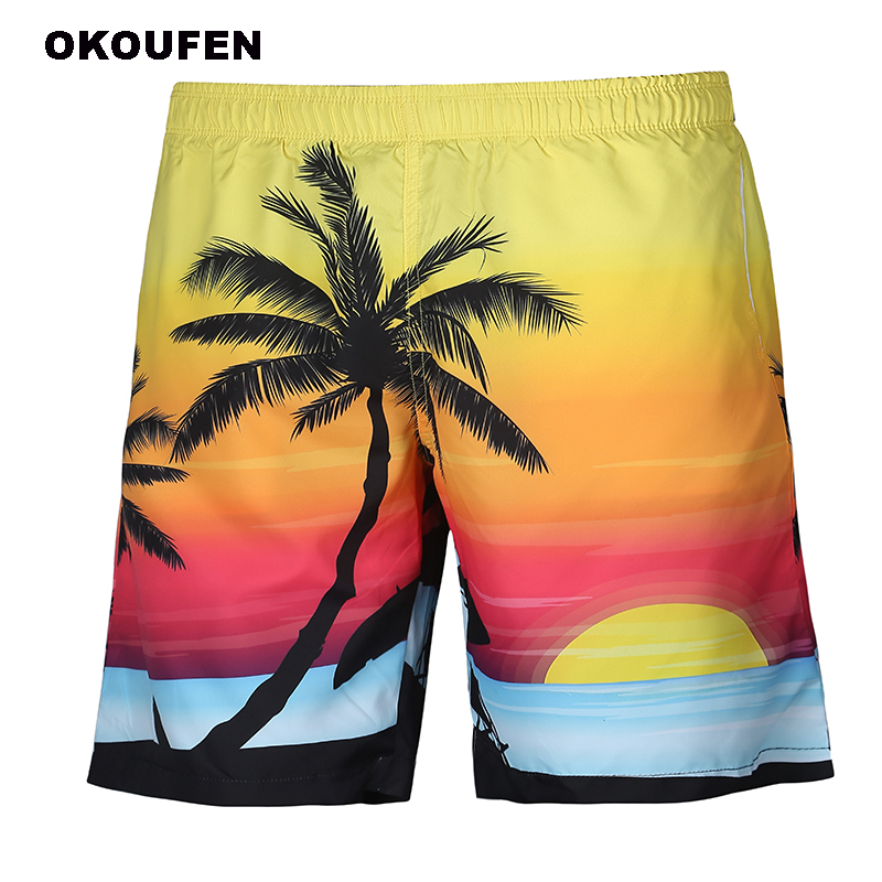 Radient 2018 Men Casual 3d Graffiti Printed Beach Pants Work Men Short Trouser Colorful Shorts Pants Straight Loose Men's Clothing