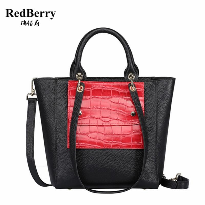 100% Genuine Leather Women Handbag Black 2017 New Fashion Cow Leather Luxury Shoulder Bolsas Feminina Famous Brand Elegant