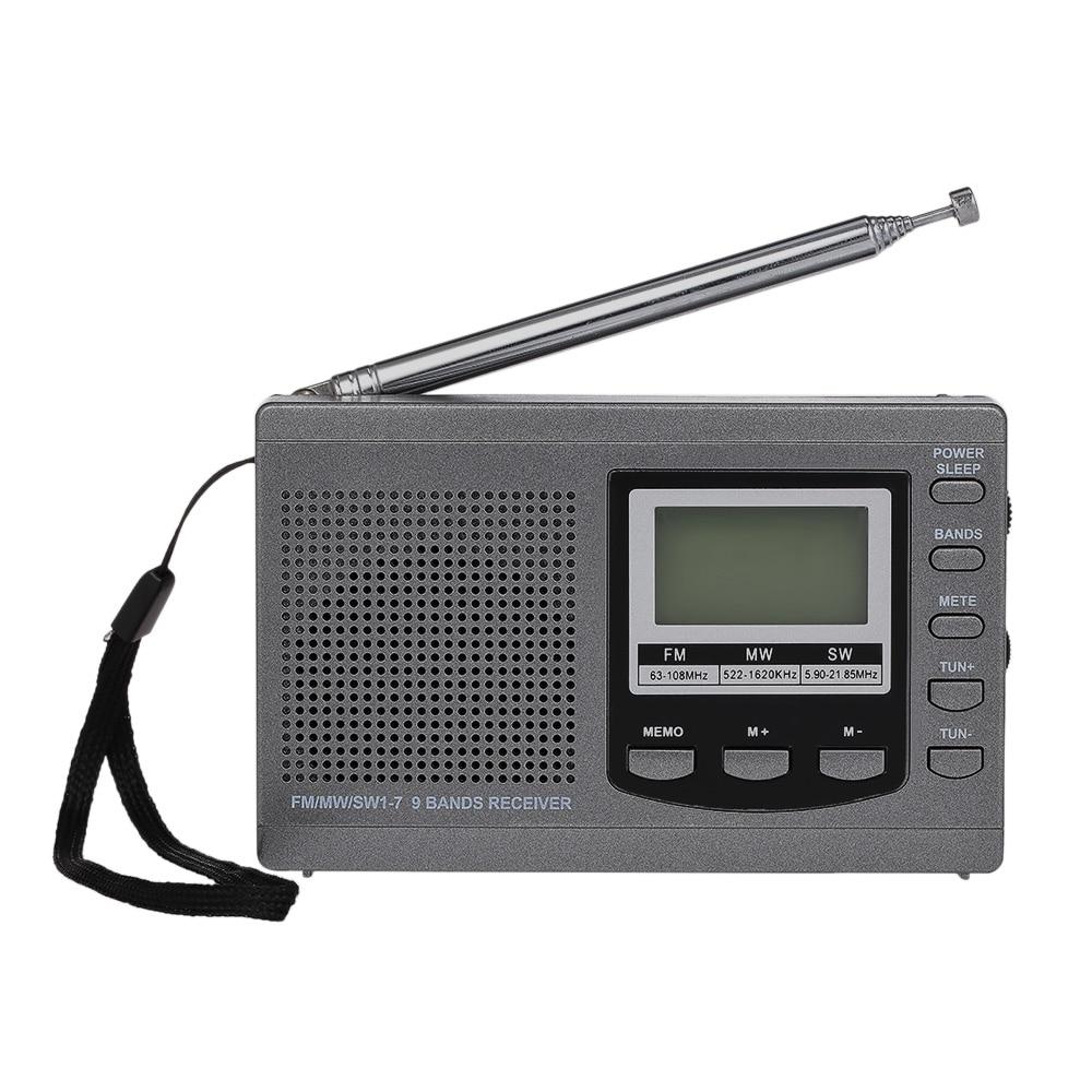 Mini Fm Radio Fm/am/sw Multiband Digital Stereo Radio Receiver Kopfhörer Ausgang Zeitanzeige Wecker Fm Radio Mini Radio Die Neueste Mode Radio Tragbares Audio & Video