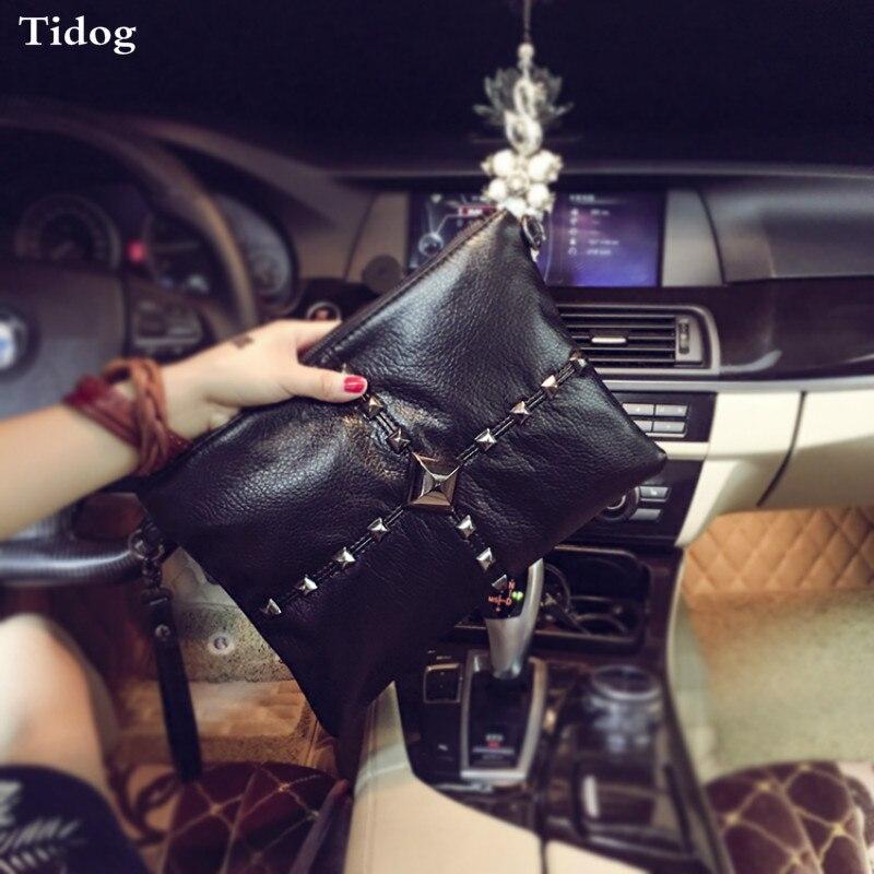 Tidog Korean men and women hand bag gem clutch bag