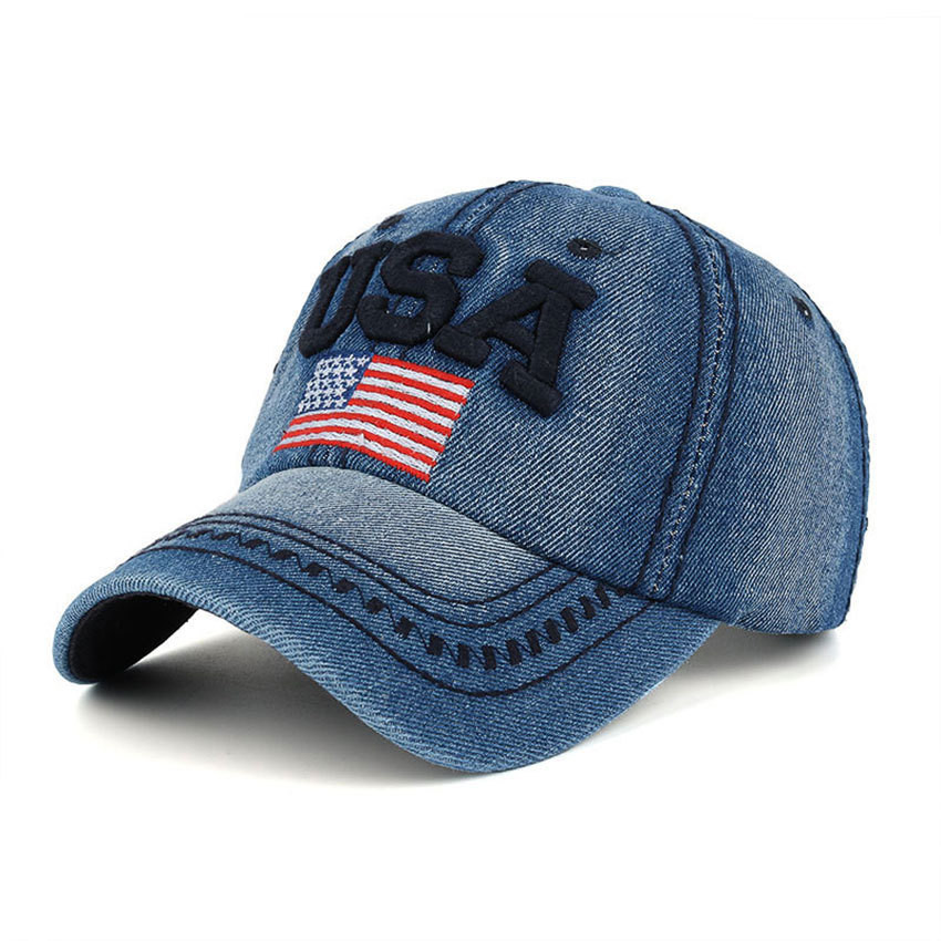 The Flag Of The United States Letter USA Cap Adjustable Cotton Hat Snapback Outdoor Sports Gorras Hip Hop Men Women Baseball Cap a new set of head cap cotton scarf dual purpose male and female geometric pattern of baotou hat