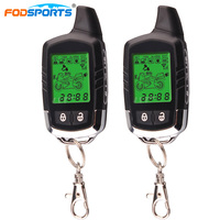 Fodsports 2 Way Motorcycle Alarm Theft Protection Security System Motorbike Long Range Distance With LCD Remote