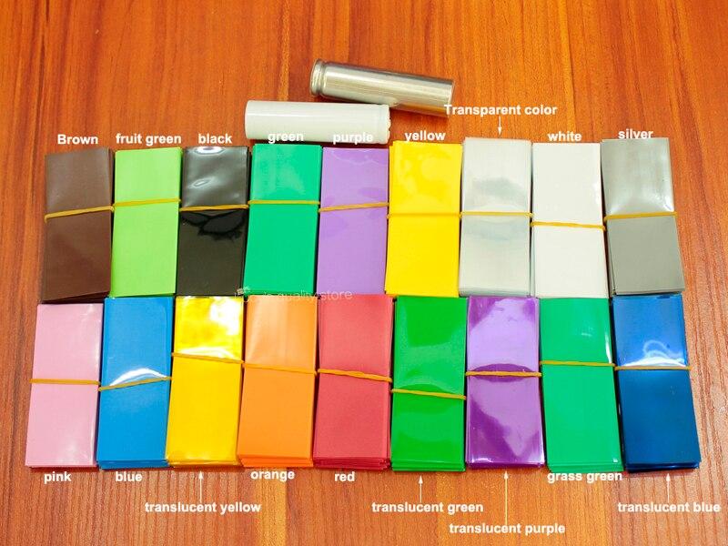 Купить с кэшбэком 10m/lot 18650 lithium battery PVC heat shrinkable sleeve film battery package outer film 30MM wide * 18MM diameter