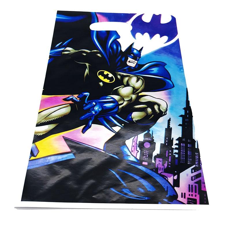 BATMAN Superhero Supplies Boys Birthday Party Favor Cake Gift Loot Bags
