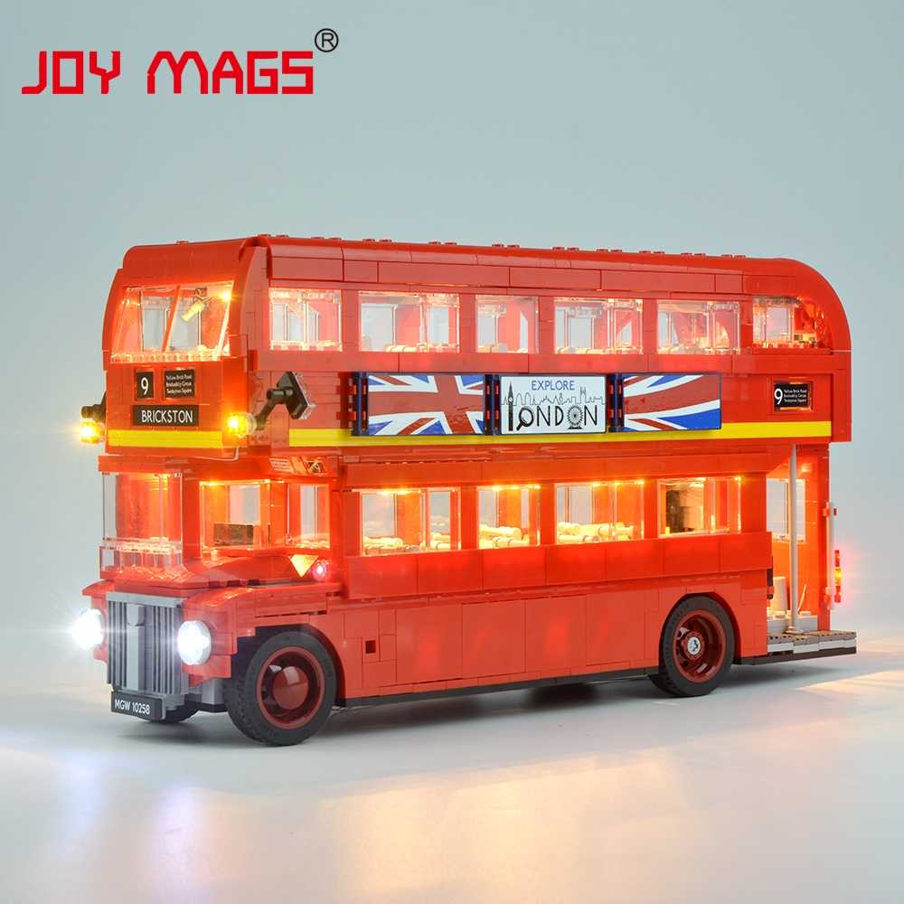 JOY MAGS Led Light Up Kit For Creator London Bus Light Set Compatible With 10258(NOT Include Model)
