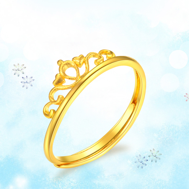 XXX 24K Pure Gold Ring Real AU 999 Solid Gold Rings Good Crown Beautiful Upscale Trendy Classic Party Fine Jewelry Hot Sell New 3
