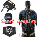 High Quality Game Watch Dogs 2 cosplay costume accessories Watch Dogs mask cap and bag