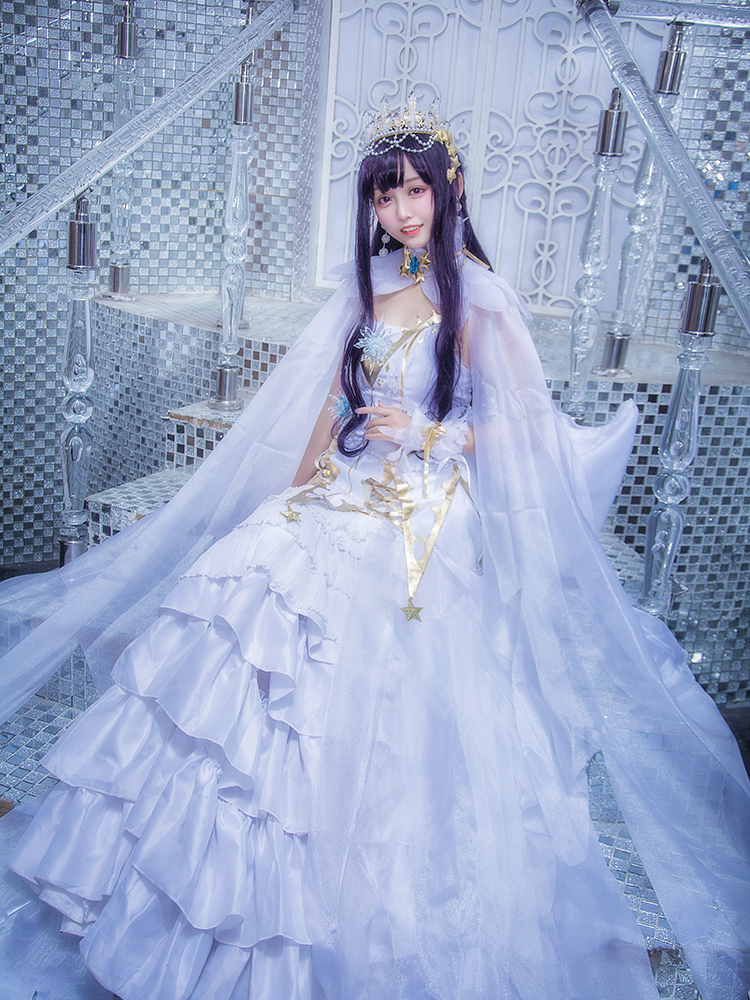 Anime! Cardcaptor Sakura Daidouji Tomoyo Ice angels Gorgeous White Lolita Dress Cosplay Costume 2018 New Hot Free Shipping