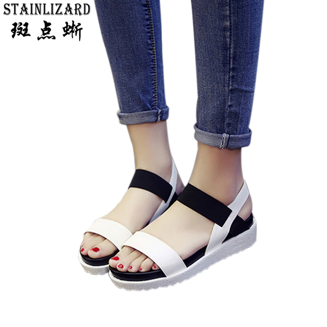dca367f7fd9c Casual Bohemia Women Platform Sandals Fashion Wedge Gladiator Sexy Female  Sandals Boho Girls Summer Women Shoes BT574