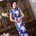 Elegant Women Long Cheongsam vestidos Cheongsam Long Qipao Vintage Chinese Traditional Dress Size:S M L XL XXL