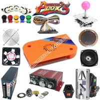 2 Player Arcade Game DIY Kits With Pandora Box 4s American Style Joystick Button Coin Door
