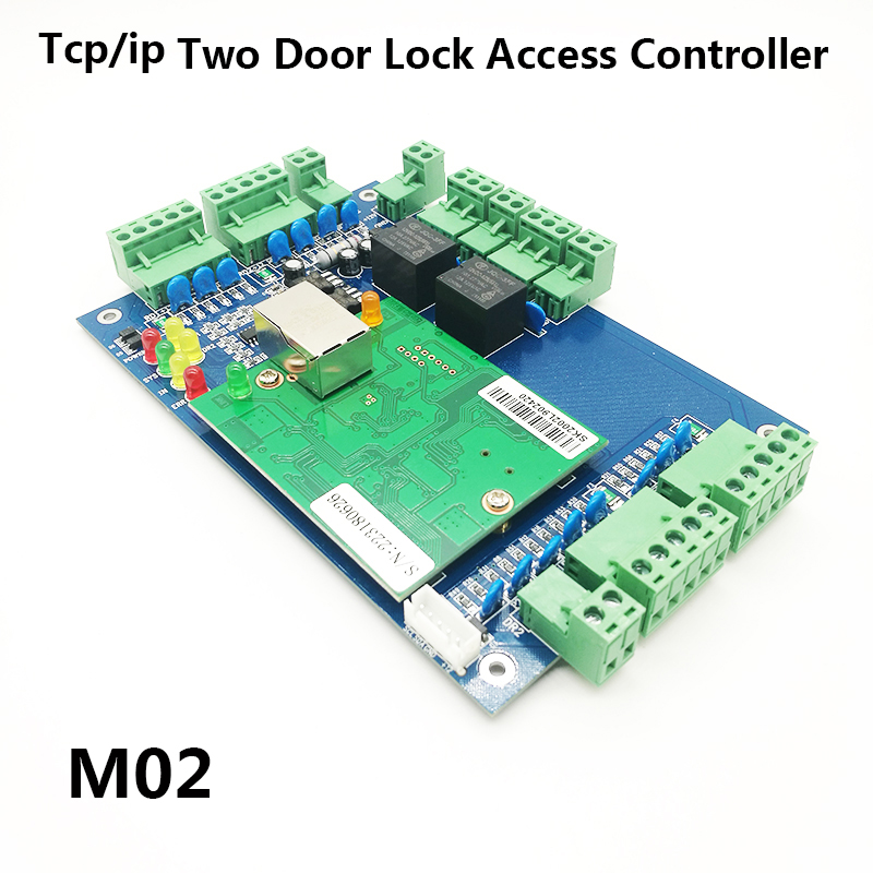 Wiegand TCP/IP Two Doors Access Control Board ,2 Door Access Control Panel Door Security Access Control System M02Wiegand TCP/IP Two Doors Access Control Board ,2 Door Access Control Panel Door Security Access Control System M02