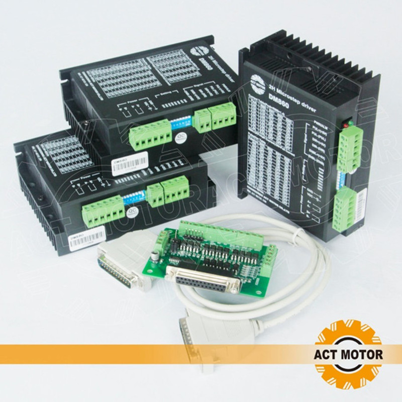 Free Ship From Germany!ACT 3Axis Stepper Motor Driver DM860 80V 7.8A 256Microsteps for Nema34 Stepper Motor CNC US CA JP DE Free картридж cactus cs c9425 голубой