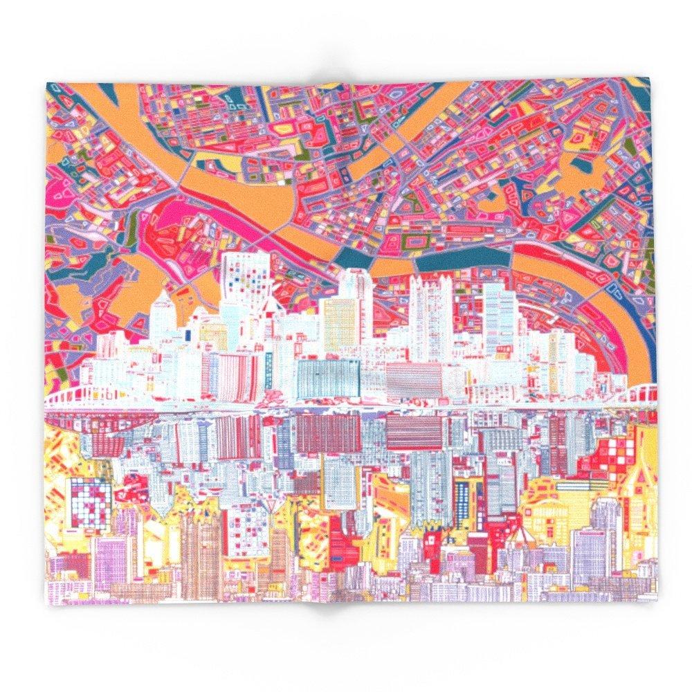 Blanket Custom Pittsburgh City Skyline Fleece Blanket Sofa
