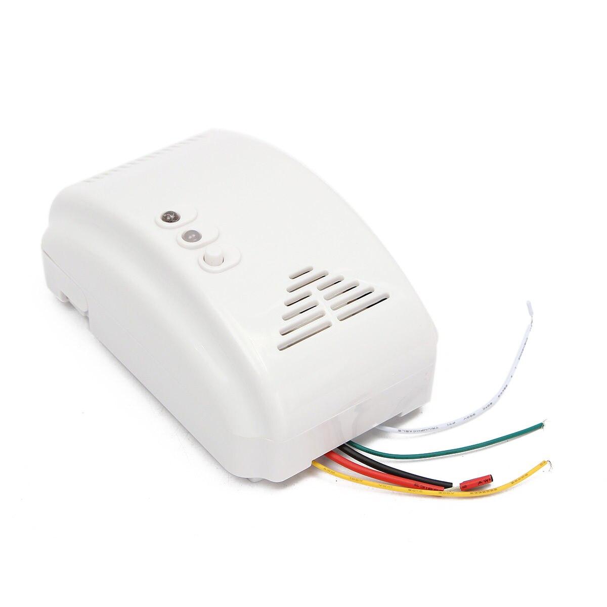 1pc Mayitr High Quality White Gas Leak Sensor Alarm 12V Propane Coal Butane LPG Natural Wall-mounted Gas Detector 115*72*41mm