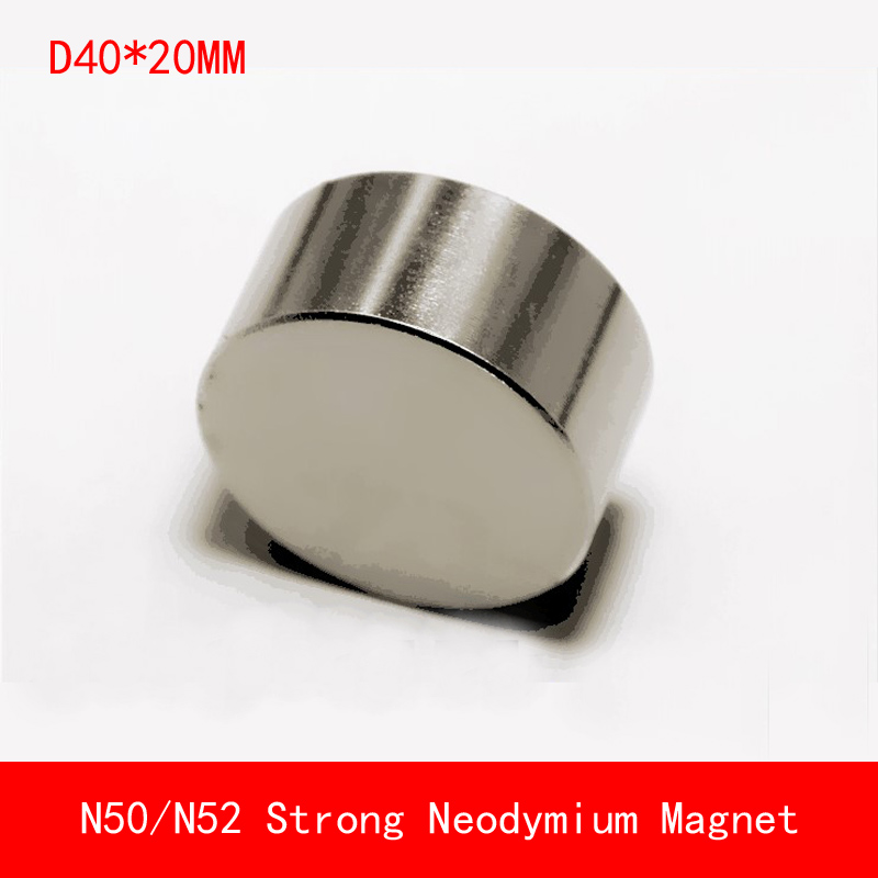 1pcs Neodymium magnet 40x20mm super strong round disc Rare earth powerful gallium metal magnets speaker 40*20mm newest magnets 2pcs dia 40x20 mm hot round magnet 40 20mm strong magnets rare earth neodymium magnet 40x20mm wholesale 40 20mm