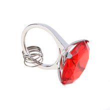 Red Diamond Ring Shape Keychain