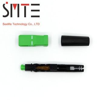 100 unids/lote SC APC 50mm ZF FTTH fibra óptica SC conector SC/APC fibra óptica conector SC-APC rápido conector