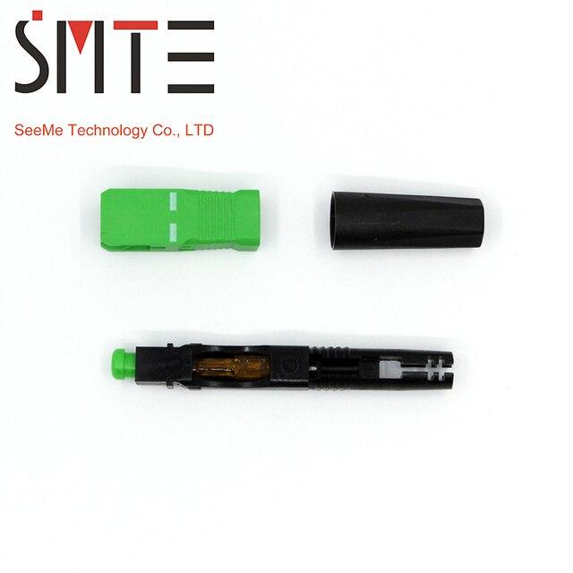 100pcs/lot ZF 8802 TLC/3 60mm connector SC/APC Optical fiber connector FTTH Fiber optic