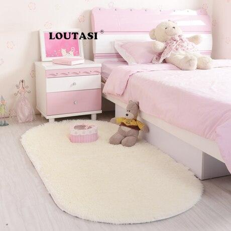 LOUTASI Long Plush Living Room Carpet European Fluffy Mat Kids Room Rug Bedroom Mat Antiskid Soft Faux Fur Area Rug Floor Mats