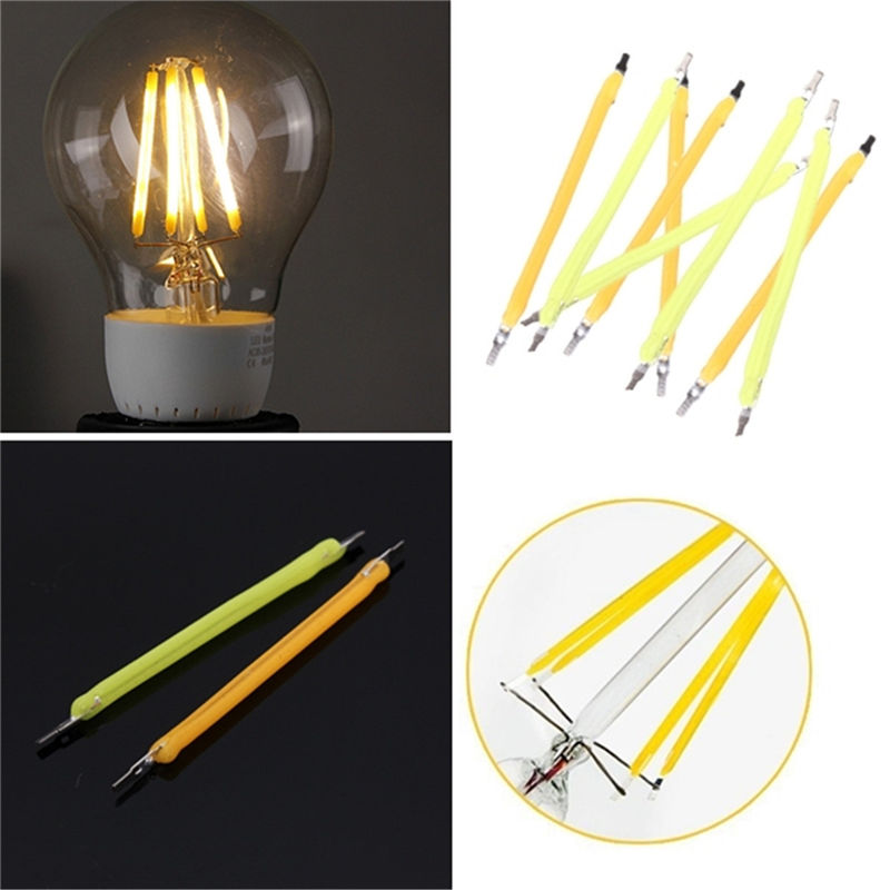 COB LED Light Bulb 1W Filament Light Source Accessaries for Globe Candle Lamp Bulb Warm White Pure White DIY Lighting DC 50-60V led light bulb e27 36w dimmable globe bulb cool energy saving lamp warm white spot light chandelier candle lighting ac110 240v