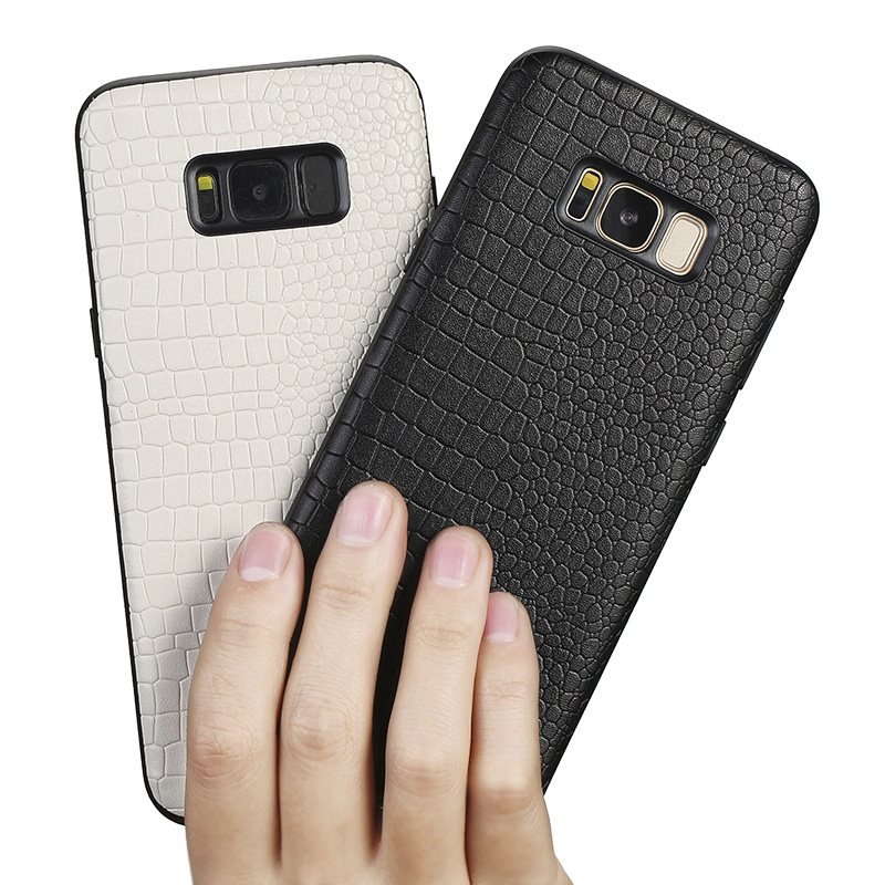 Genuine Leather Phone case For Samsung S7 Edge S8 S9 Plus Note 8 9 For A3 A5 A7 A8 J5 J7 2017 case Crocodile texture back cover