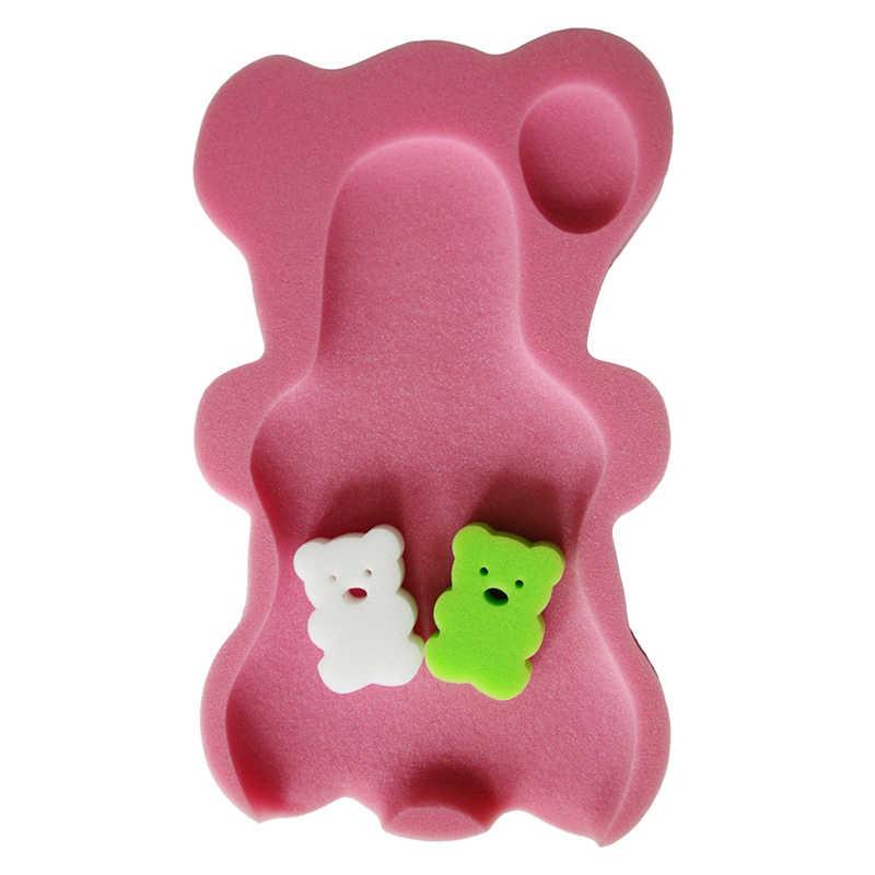 Bebê infantil macio banho esponja assento bonito anti-deslizamento espuma almofada tapete suporte para o corpo segurança crianças almofada esponja produtos do banheiro