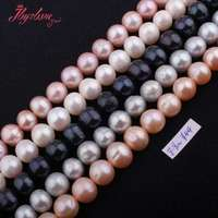Free Shipping 7 5 9mm Natural Nearly Round Freshwater Pearl Gem Stone For DIY Necklace Bracelat