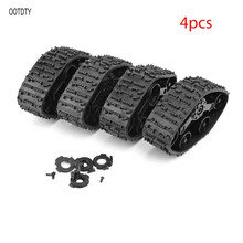 4pcs Upgrade Track Wheels Spare Parts For 1/16 WPL B14 C24 Military Truck RC Car Accessories free shipping plastic track for 1 16 1 16 3888 3888 1 rc tanks spare parts