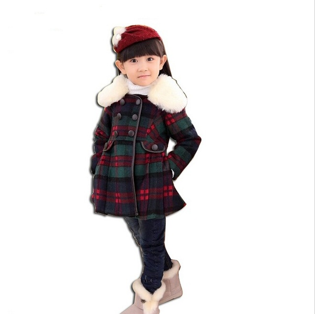 High quality Brand Winter children coat girls Wool Warm Jacket,Baby Grils Woolen Outerwear Coat,Autumn Kids Long Down Thick Coat