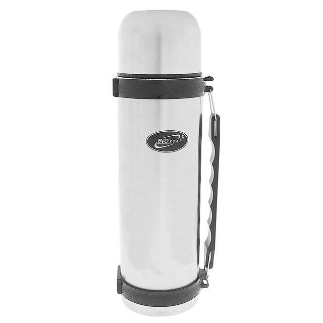 Термос BIOSTAL NY-1500-2 (Объем 1.5 литра, нержавеющая сталь, время сохранения тепла 19 часов, удобная пластиковая ручка)