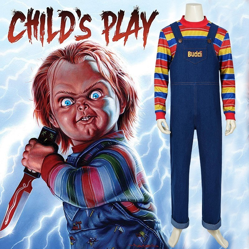 Child s Play Cosplay Charles Lee Ray Costume Chucky Andy Barclay Film Buddi Doll Jumpsuit Lakeshore