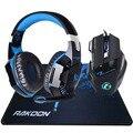 5500 DPI X7 Pro Gaming Mouse + EACH G2000 Hifi Pro Gaming Jogo De Fone de ouvido Fone de Ouvido + Dom Grande Gaming Mousepad Pro Gamer em Estoque