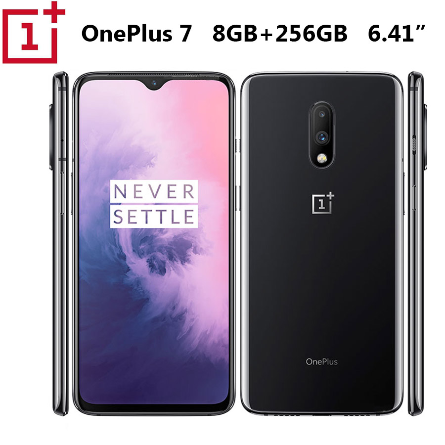 Global ROM Oneplus 7 mobile phone 8GB 256GB Snapdragon 855 6.41 inch Screen Fingerprint 48MP Rear Camera 16MP Front Camera Phone