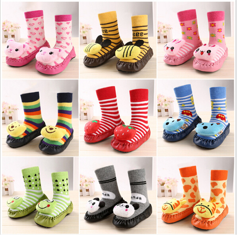 Fashion Lovely Cartoon Baby Socks With Bell Infants Kid S Indoor