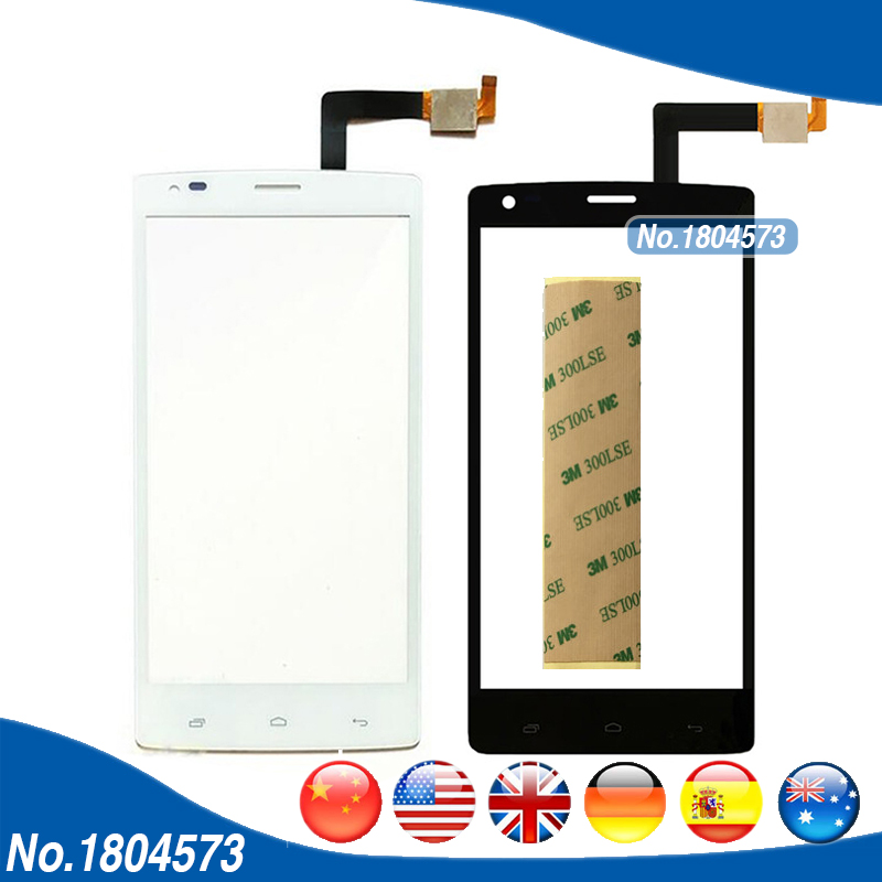 5.0 IQ 4505 Touch Screen For Fly IQ4505 Quad Era Life 7 Touchscreen Digitizer Front Glass Sensor Replacement + Tape 1PC/Lot