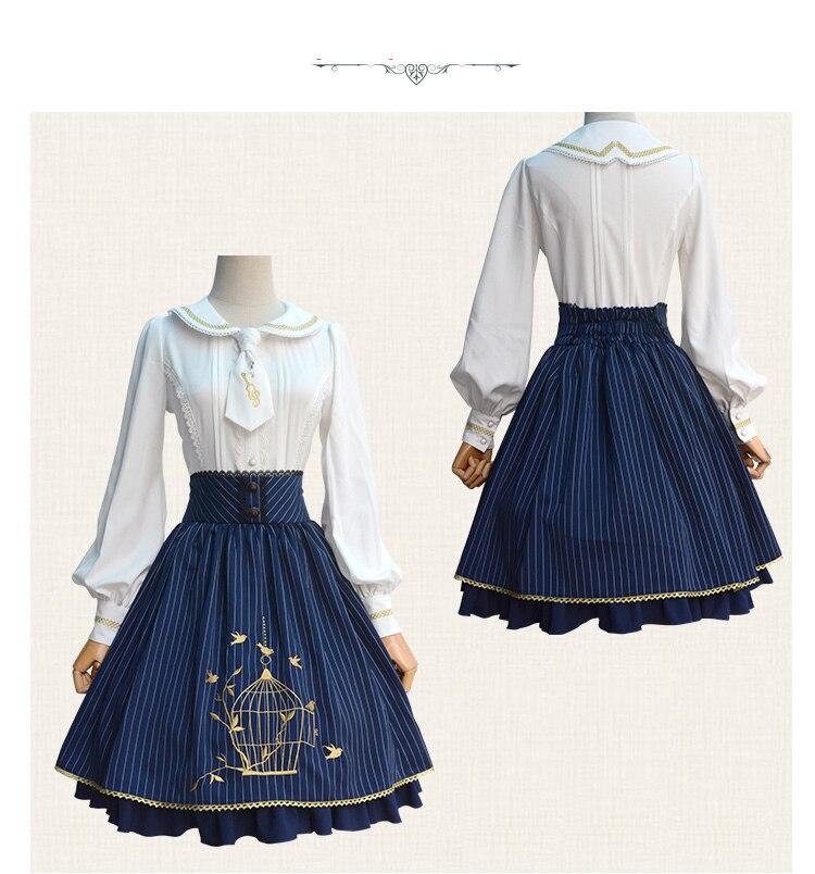 Douce Lolita princesse cage à oiseaux broderie SK belle fille jupe Court style japonais