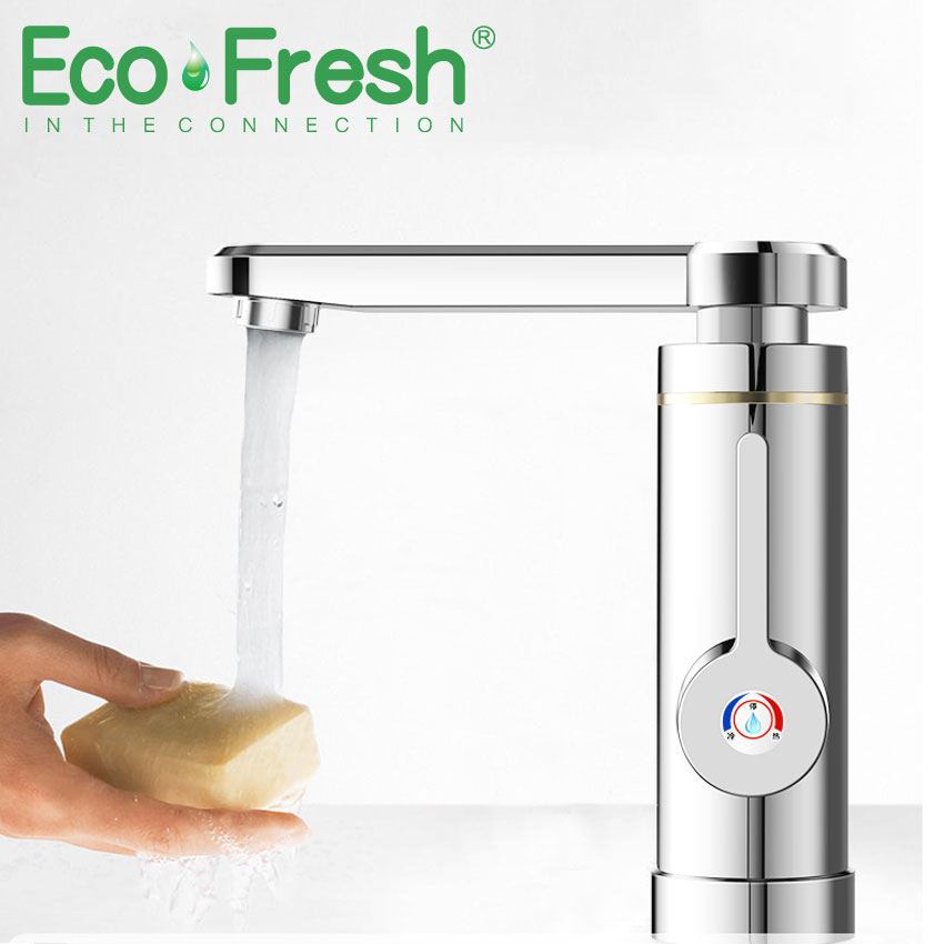 Ecofresh Newest Stainless Steel 220v 3000w Water Heater Faucet Kitchen Electric Water Heating Tap Instant Hot