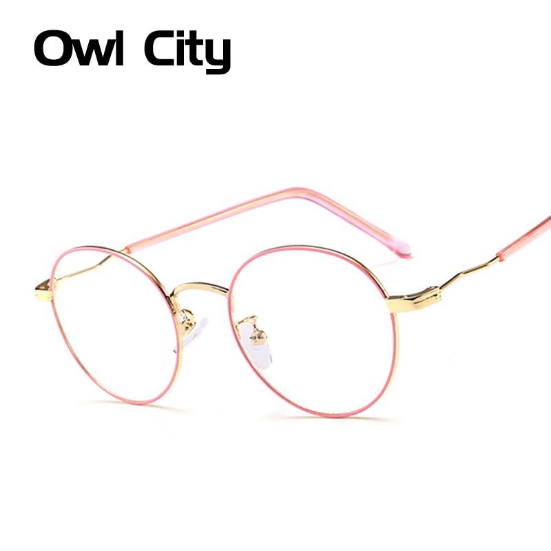 Vintage Round Eyeglasses frame Female Brand Designer gafas De Sol ...