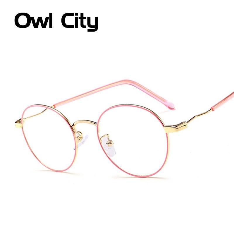 Vintage Round Eyeglasses frame Female Brand Designer gafas De Sol Spectacle Plain Glasses Gafas eyeglasses eyewear