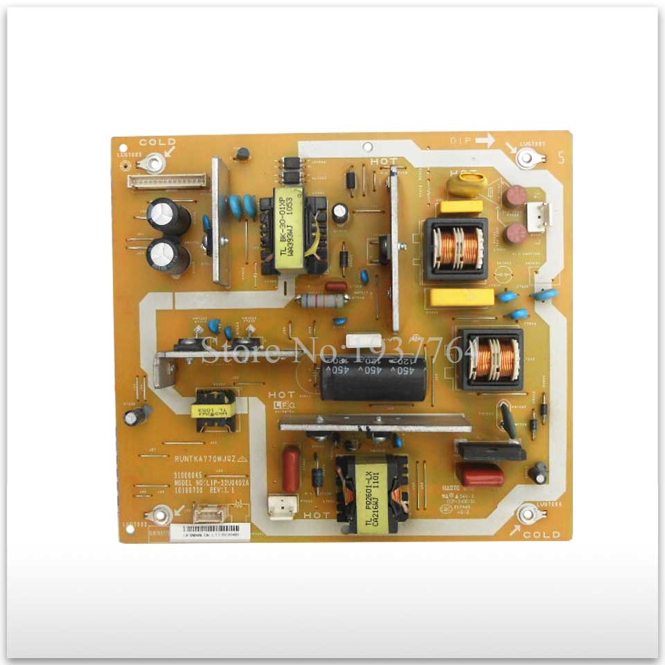 Original power supply board LCD-32G120A RUNTKA770WJQZ 31000045 LIP-32U0402A good workingOriginal power supply board LCD-32G120A RUNTKA770WJQZ 31000045 LIP-32U0402A good working