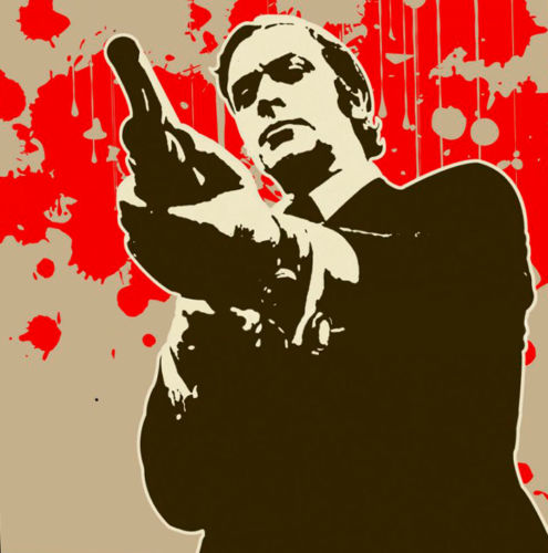 100%Handmade Get Carter Popart Oil Painting 28x28. Framing available. NOT a print or poster