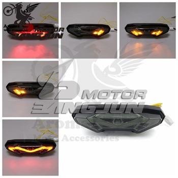 2014 2015 2016 smoke lens scooter flashers part moto brake light for yamaha FZ09 MT09 MT-09 motorbike tail light motorcycle LED