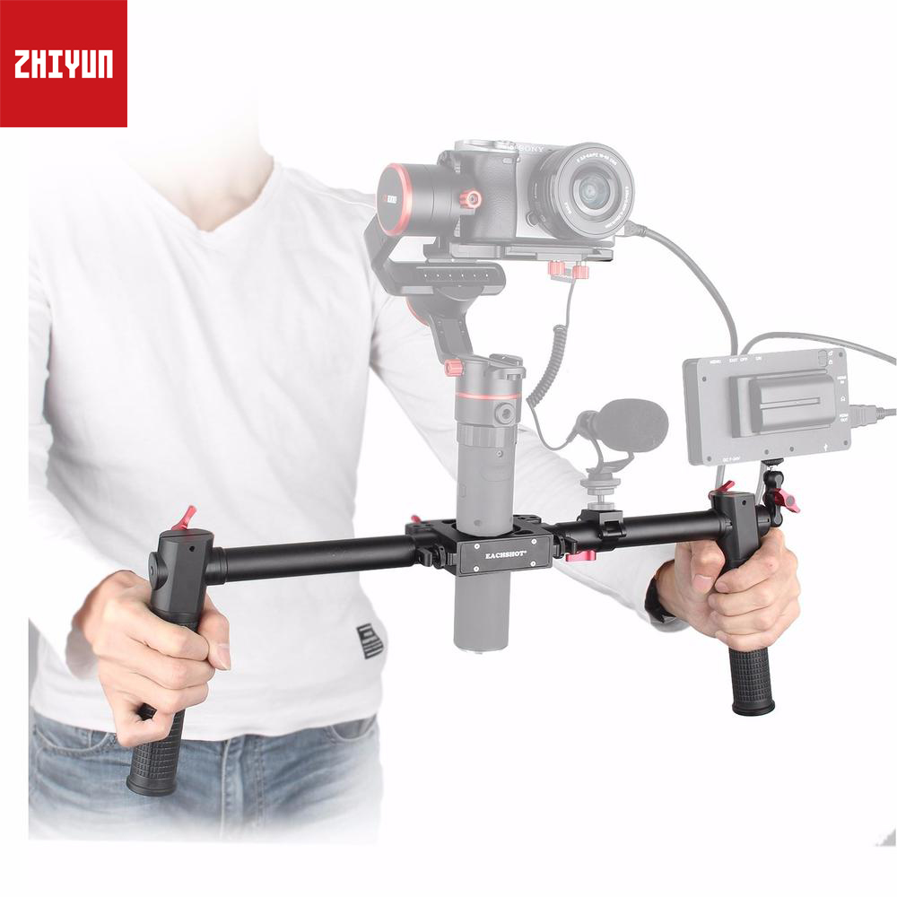 Fotopal Dual Handle Grip Handheld Handlebar for <font><b>Gimbal</b></font> Zhiyun Crane 2 Crane V2 <font><b>Feiyu</b></font> <font><b>a1000</b></font> a2000 Gusen MOZA Air Accessories image