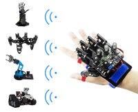 착용 할 수있는 기계 장갑 무선 somatosensory 관제사 통제 exoskeleton diy rc 로봇 손 종려 손가락 원격 제어