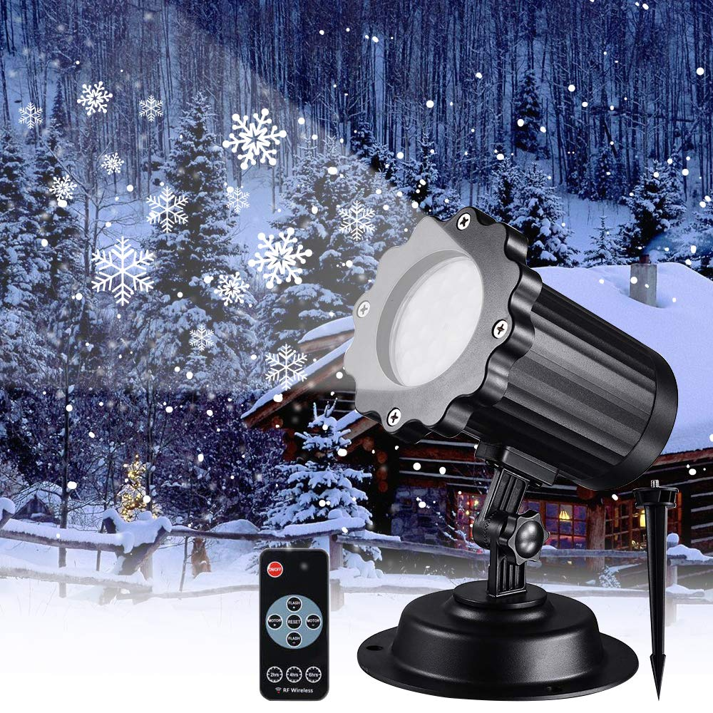 Waterproof Moving Snowflake Laser Projector Stage Disco Light Outdoor Snowfall Laser Light Christmas Party Garden Landscape Lamp